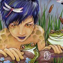 Lily Padd, a Half-Werefrog.