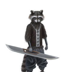 This young Wereraccoon squire has a distinct advantage over most young men...