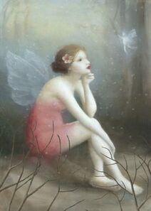 Fairy watching an atomy