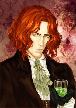 Dfgyrty (Redhead Strigoi with Green Absinthe Drink)