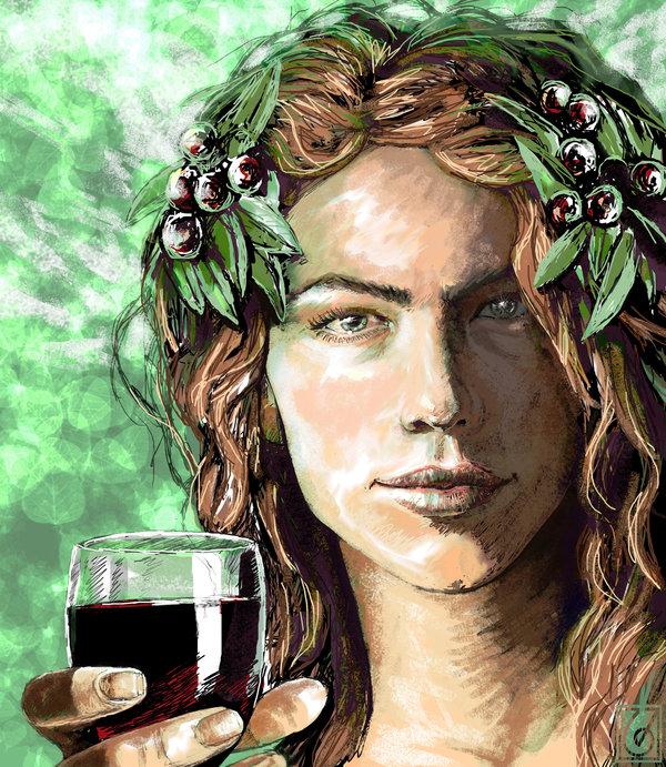 Image - Dionysus Bacchus Greek God Art 03 by Janice Duke ...  Dionysus Drawing