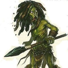 Chlorander was born of a Dryad and a Moss Man.