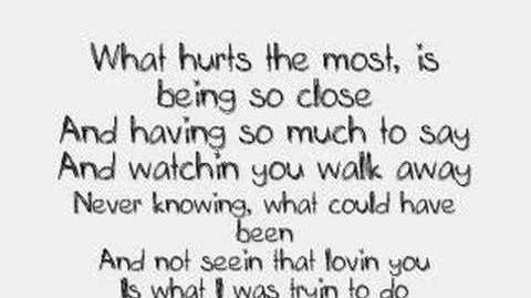 Cascada--what hurts the most! lyrics