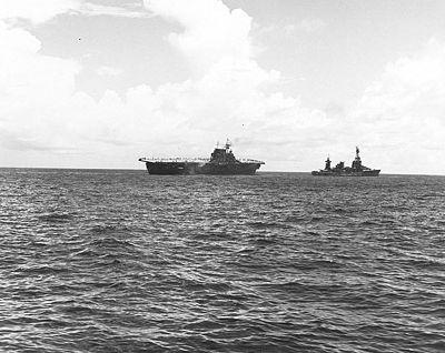 USS Northampton towing USS Hornet 26Oct1942