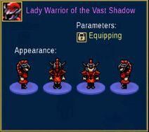 Lady Warrior of the Vast Shadow