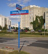 Żołnierzy Wyklętych (tablica z nazwą ulicy)