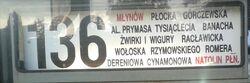 136 (tablica boczna - zewn.)