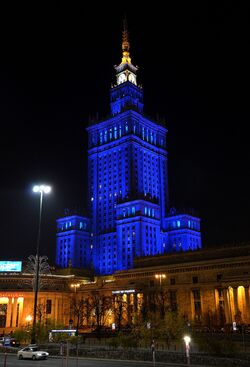 Nowa iluminacja Pałac Kultury i Nauki