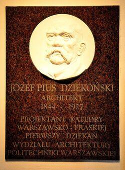 Tablica Józef Pius Dziekoński katedra św. Floriana