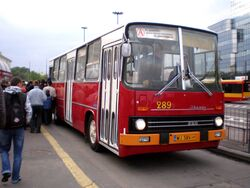 Autobus A (zabytkowy Ikarus, Noc Muzeów 2010)