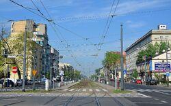 Ulica Grochowska widok z Ronda Wiatraczna