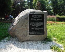 Park Stawy Kellera (kamień pamiątkowy)