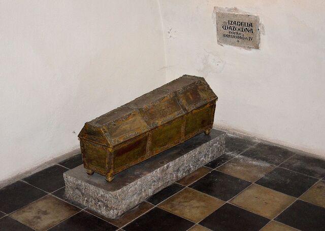 Plik:Trumna ze szczątkami Izabelli Wazówny katedra św. Jana.JPG