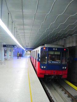 Metro Plac Wilsona Pociąg
