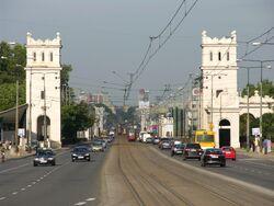 Wjazd na Most Poniatowskiego od strony Alei Jerozolimskich