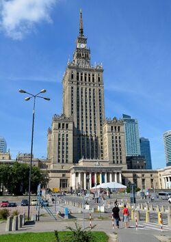 Pałac Kultury i Nauki od strony Marszałkowskiej