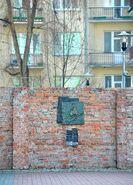 Pomnik granic getta ul. Sienna