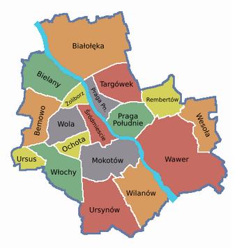 Dzielnice Wszystko O Warszawie Fandom Powered By Wikia