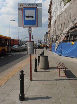 Plac Zawiszy (przystanek 2)