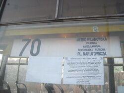 T 70 wilanowska narutowicza