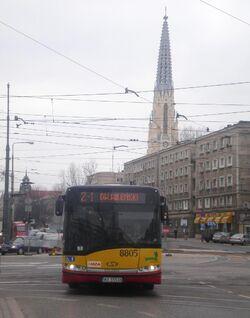 Aleja Solidarności (autobus Z-1, marzec 2009)