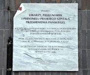 Tablica Akcja Kutschera Szpital Praski