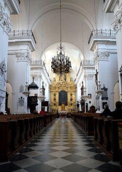 Kościół św. Krzyża wnętrze