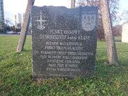 Aleja Rodowicza (tablica przy słupie)