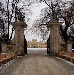 Pałac w Wilanowie (brama wjazdowa)