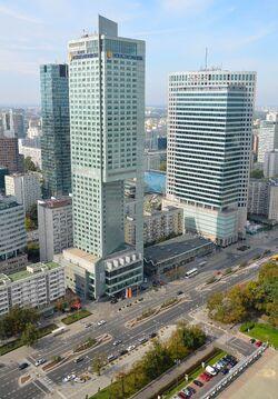 Ulica Emilii Plater Hotel InterContinental i WFC