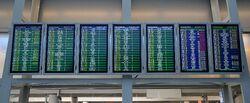 Tablice informacyjne Terminal A Lotnisko Chopina