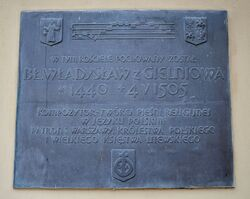 Tablica bł. Władysław z Gielniowa kościół św. Anny