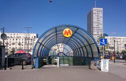 Metro Świętokrzyska (wejście)