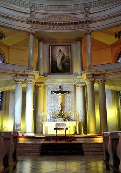Ołtarz główny kościół św. Trójcy Plac Małachowskiego
