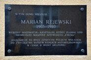 Tablica Marian Rejewski Gdańska 2