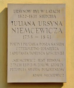 Tablica Pałac Ursynów