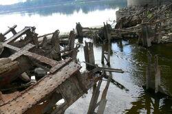 Zawalone przeslo mostu poniatowskiego 2