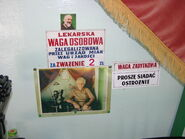 Informacja o legalizacji wagi osobowej w Parku Ujazdowskim