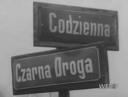 1969 tabliczka Zacisze Codzienna Czarna Droga