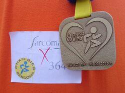 Onkobieg 2015 (medal i numer startowy)