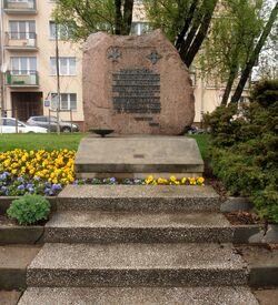Grenadierów, Aleja Waszyngtona (kamień pamiątkowy)
