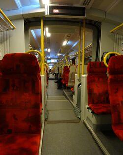 Pociąg SKM S2 (wnętrze)