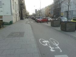 Sciezka rowerowa Aleje Ujazdowskie (by BartekBD)