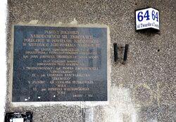 Tablica NSZ Chrobry II ulica Twarda 64