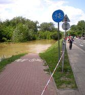 Wybrzeże Szczecińskie (ścieżka rowerowa, fala powodziowa)
