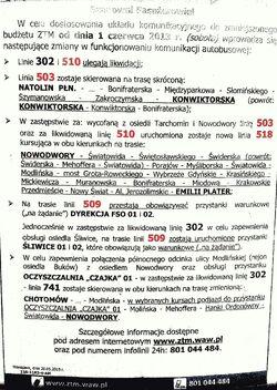 Zmiany autobusowe na Białołęce