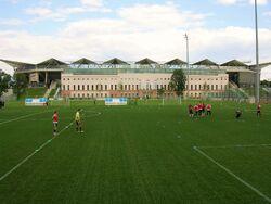 Stadion Wojska Polskiego od strony ulicy Myśliwieckiej