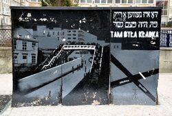 Mural Tam była kładka ulica Chłodna róg Żelaznej