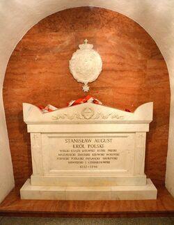 Sarkofag z prochami Stanisława Augusta Poniatowskiego Katedra św. Jana