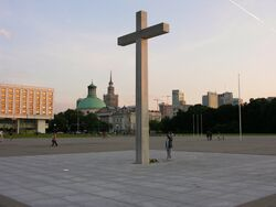 Krzyż upamiętniający mszę świętą JPII w 1979 roku